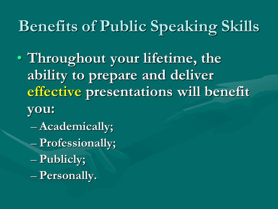 Benefits of Public Speaking Skills