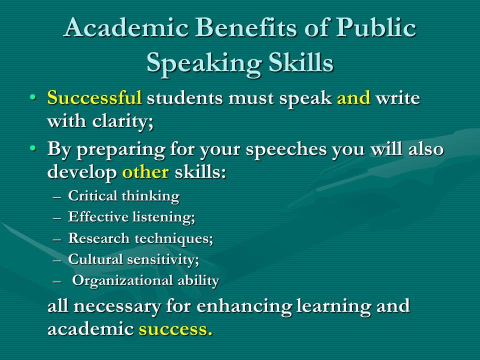 Academic Benefits of Public Speaking Skills
