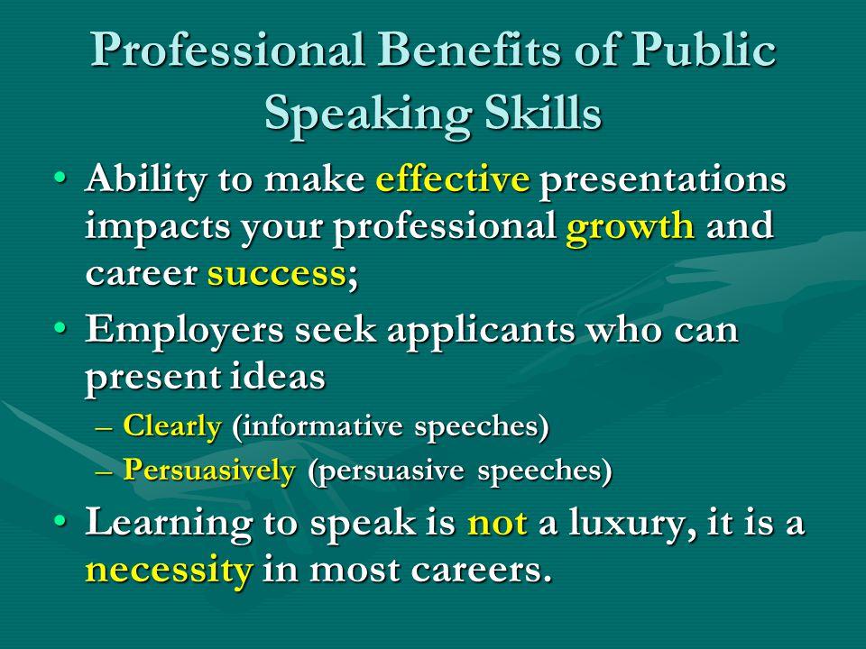 Professional Benefits of Public Speaking Skills