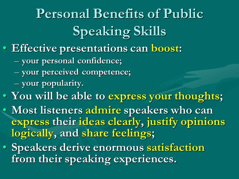 Personal Benefits of Public Speaking Skills
