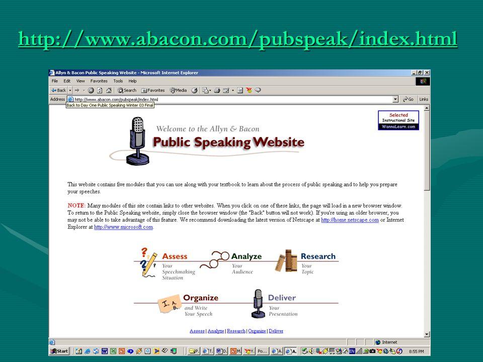 http://www.abacon.com/pubspeak/index.html