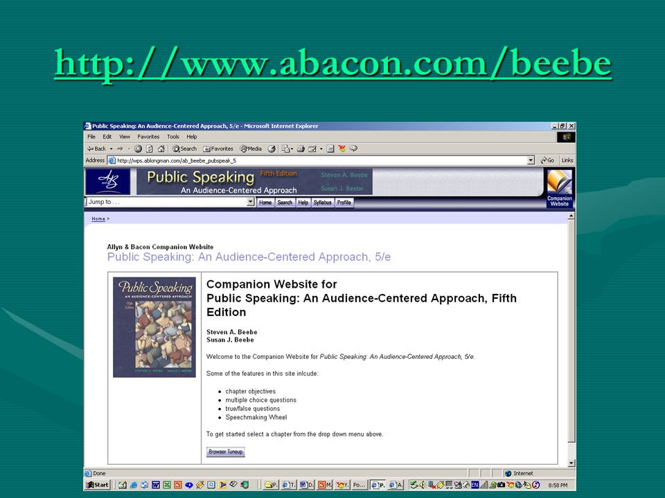 http://www.abacon.com/beebe