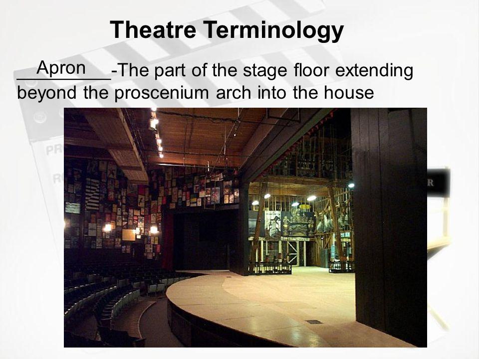 Theatre Terminology Apron