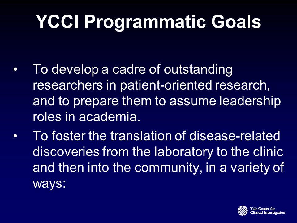 YCCI Programmatic Goals