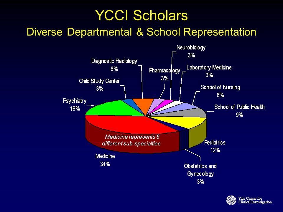 YCCI Scholars Diverse Departmental & School Representation