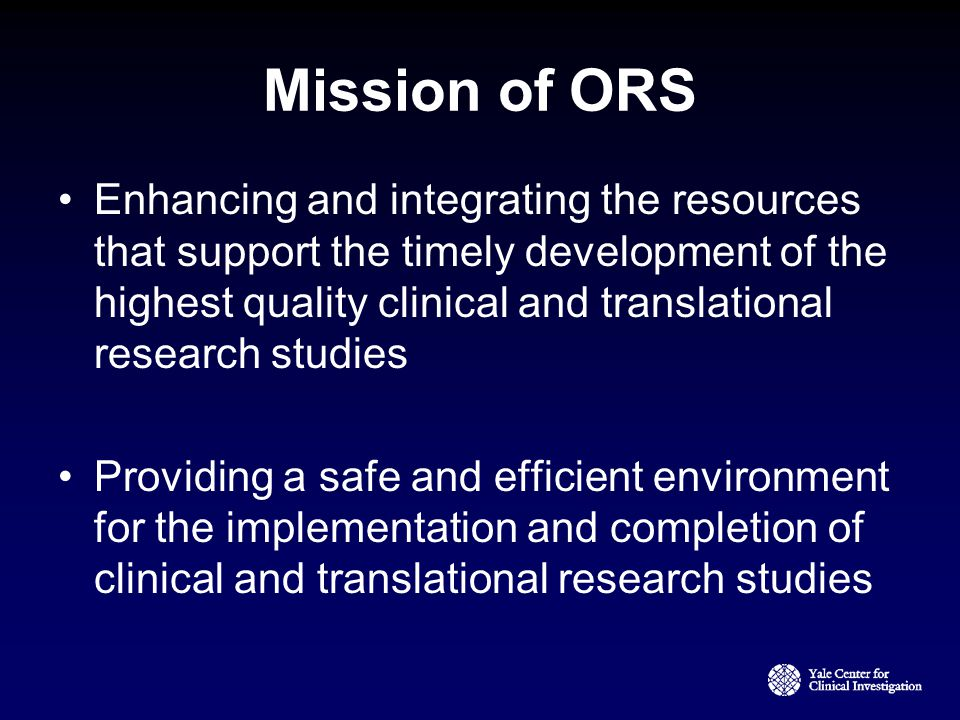 Mission of ORS