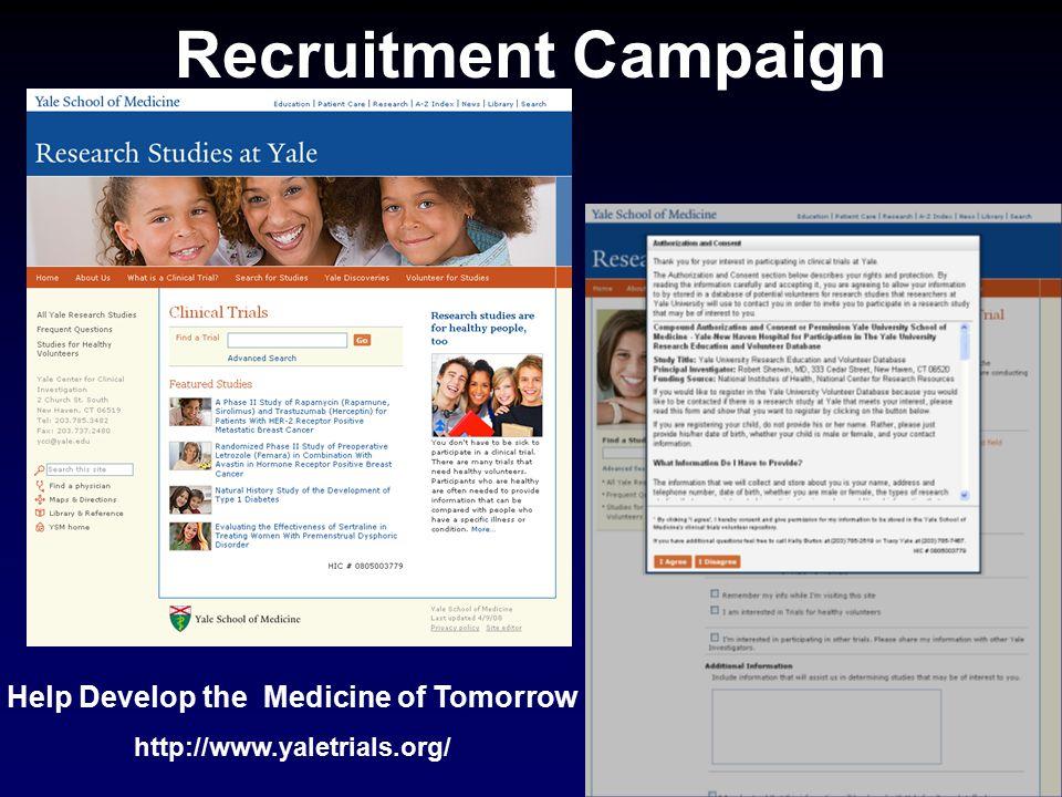 Help Develop the Medicine of Tomorrow