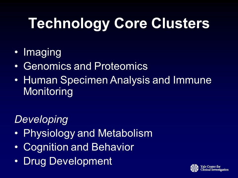 Technology Core Clusters