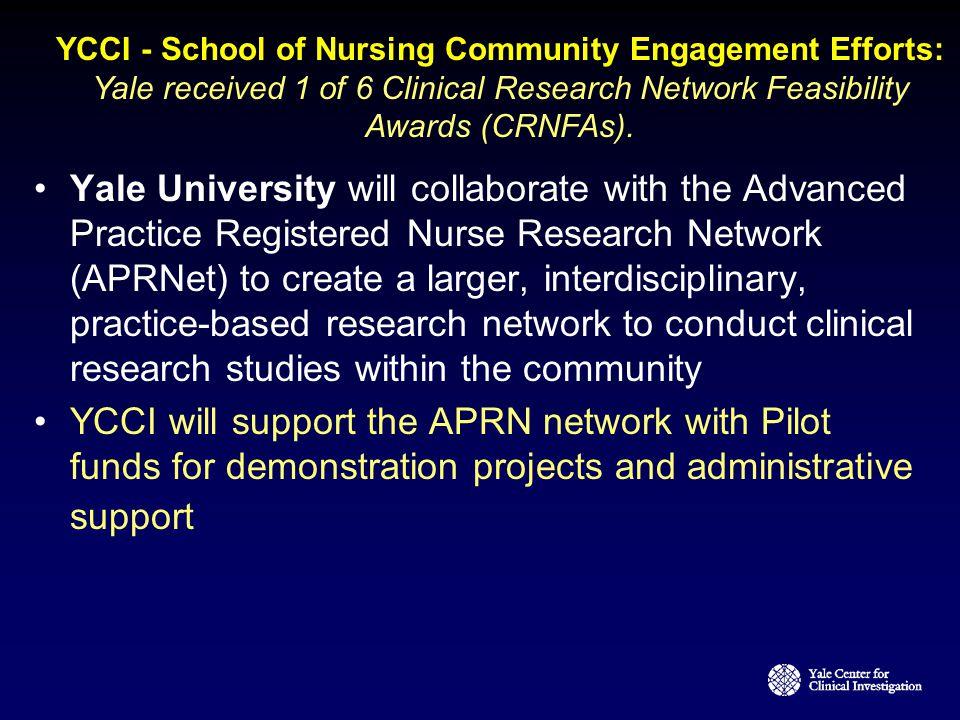 YCCI - School of Nursing Community Engagement Efforts: