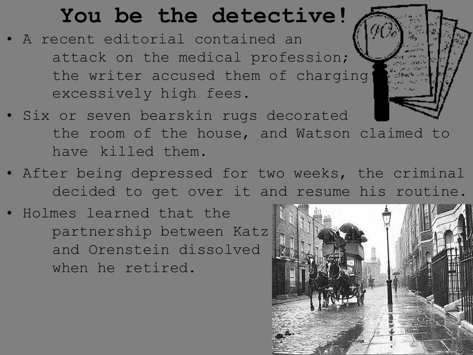 You be the detective!