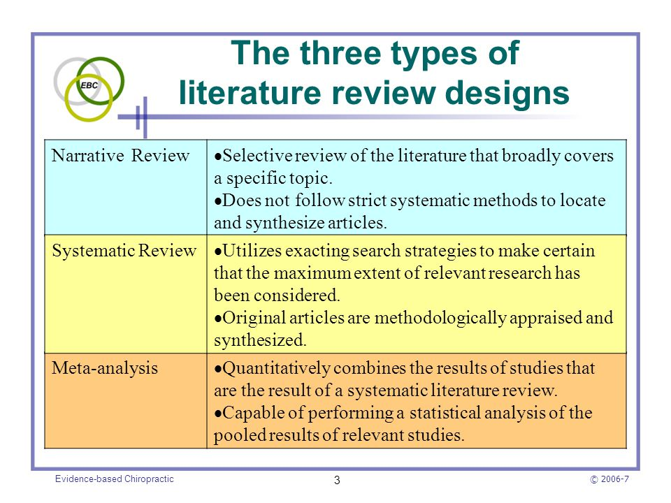 How to... conduct a systematic or evidence-based literature review