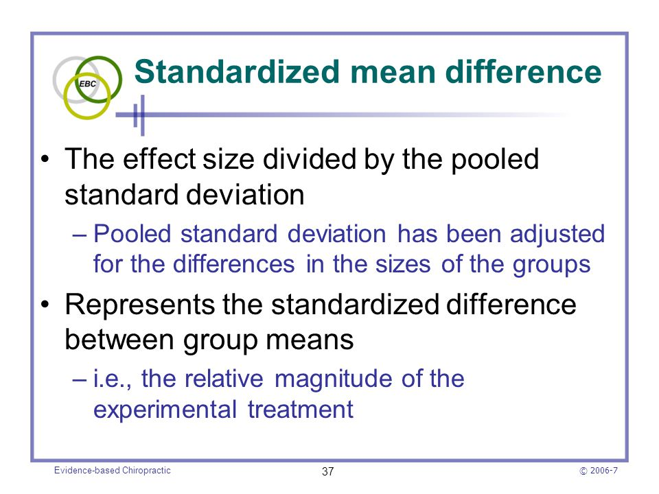 Standardized mean difference