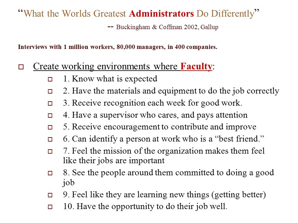 What the Worlds Greatest Administrators Do Differently