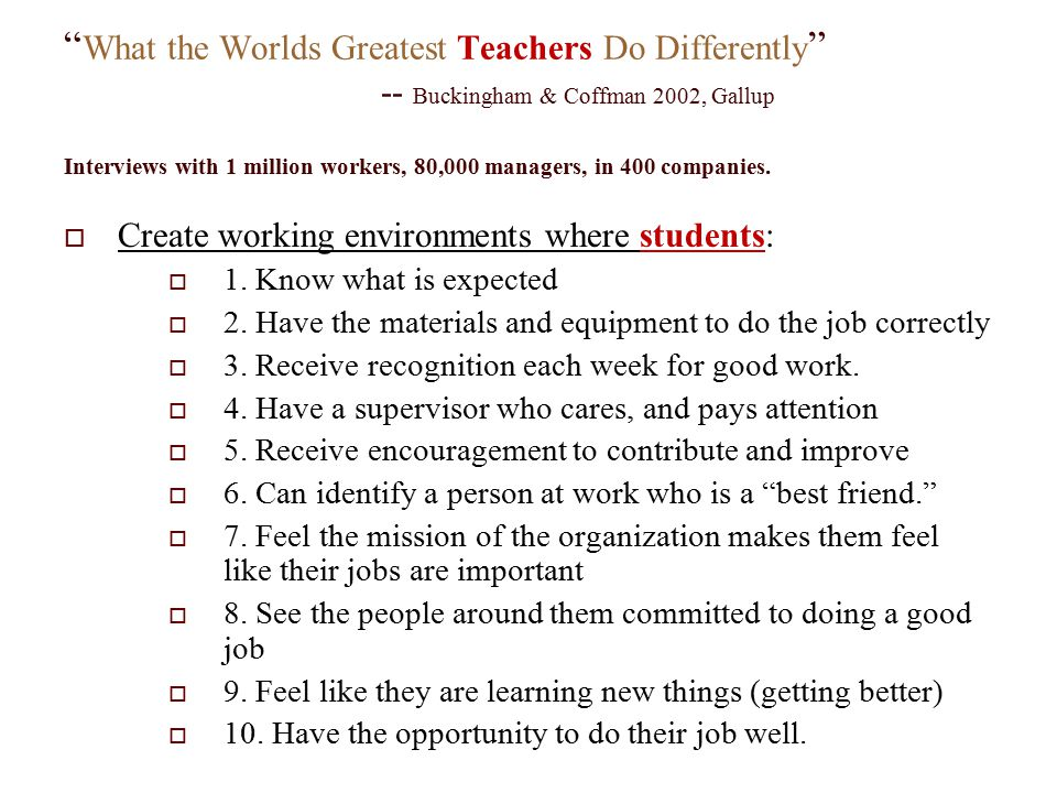 What the Worlds Greatest Teachers Do Differently