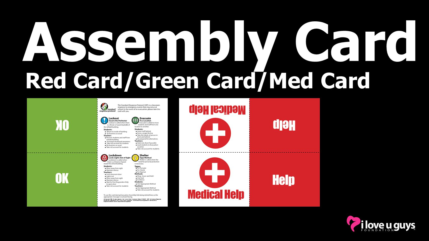 Assembly Card Red Card/Green Card/Med Card