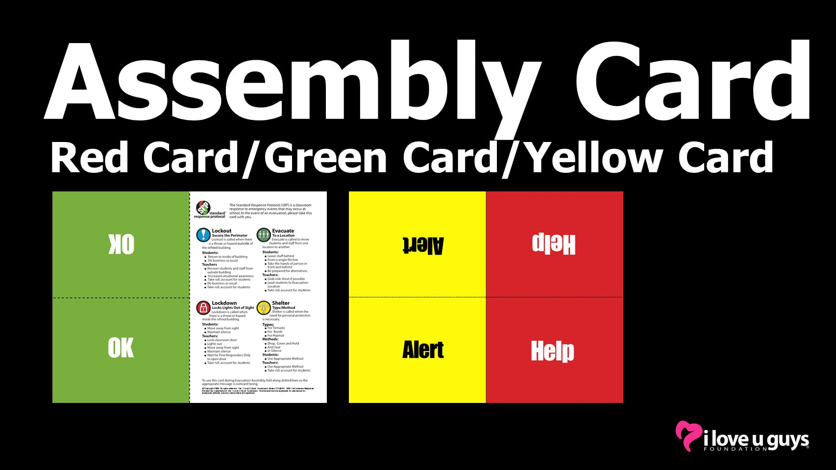 Assembly Card Red Card/Green Card/Yellow Card