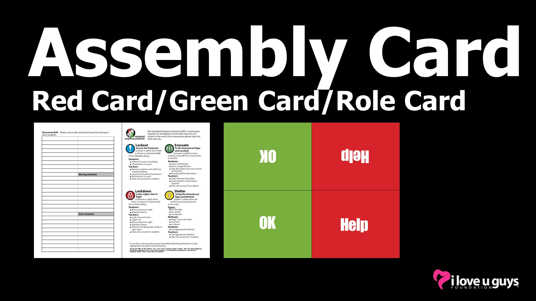 Assembly Card Red Card/Green Card/Role Card