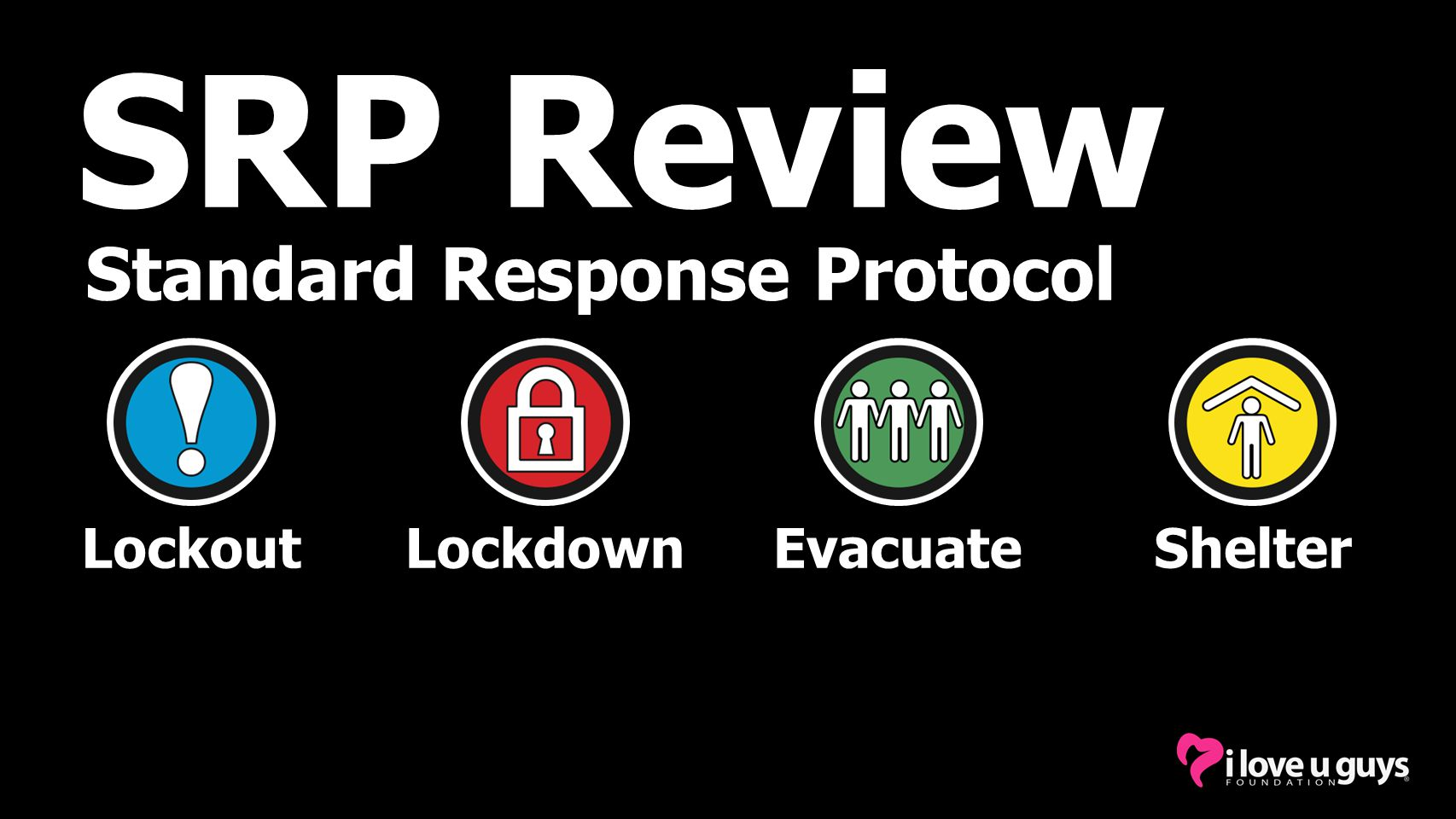 SRP Review Standard Response Protocol Lockout Lockdown Evacuate