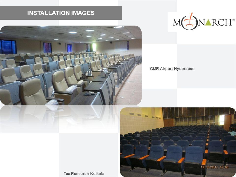 INSTALLATION IMAGES GMR Airport-Hyderabad Tea Research-Kolkata