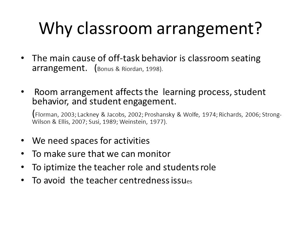 How Classroom Design Affects Student Engagement : Classroom arragement why class arrangement questions to