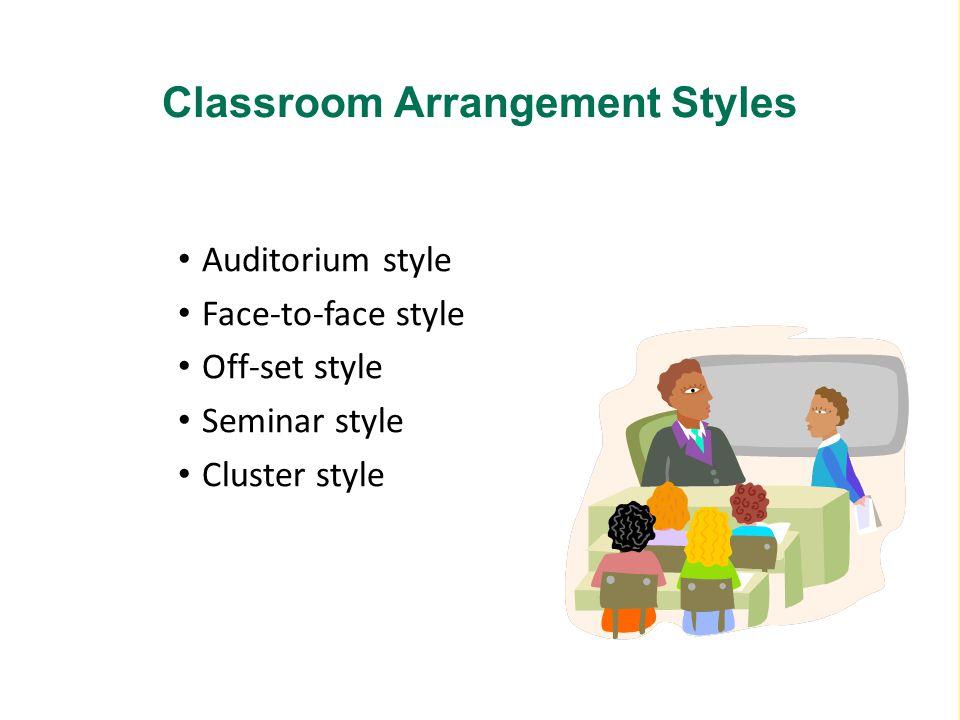 Classroom Arrangement Styles
