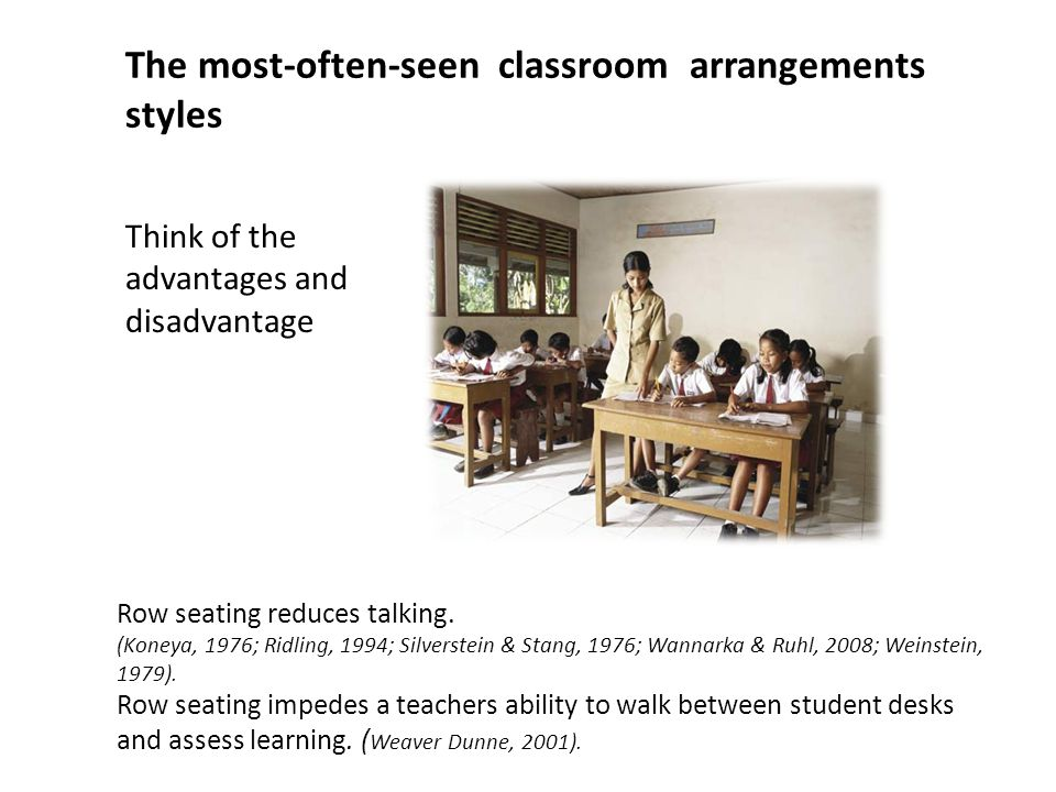 The most-often-seen classroom arrangements styles
