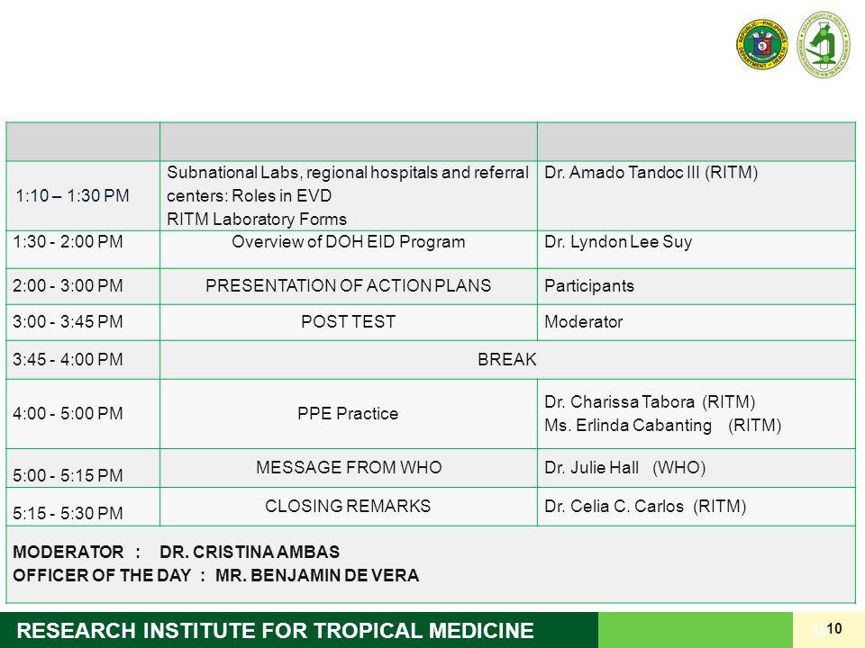 Dr. Amado Tandoc III (RITM)