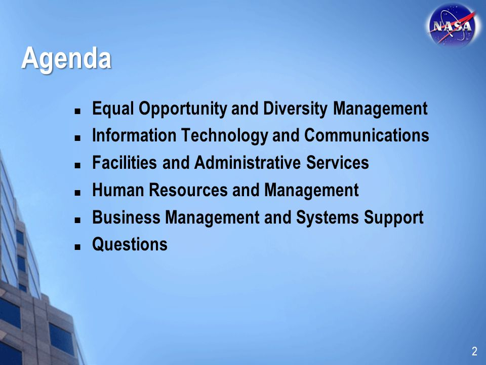 Agenda Equal Opportunity and Diversity Management