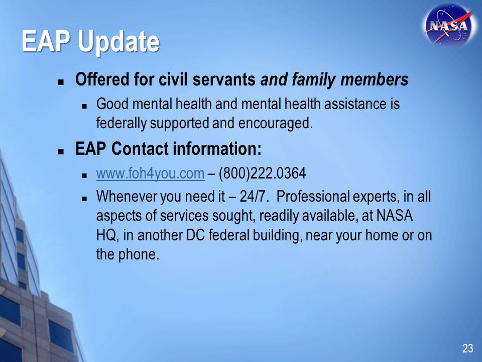 EAP Update Offered for civil servants and family members