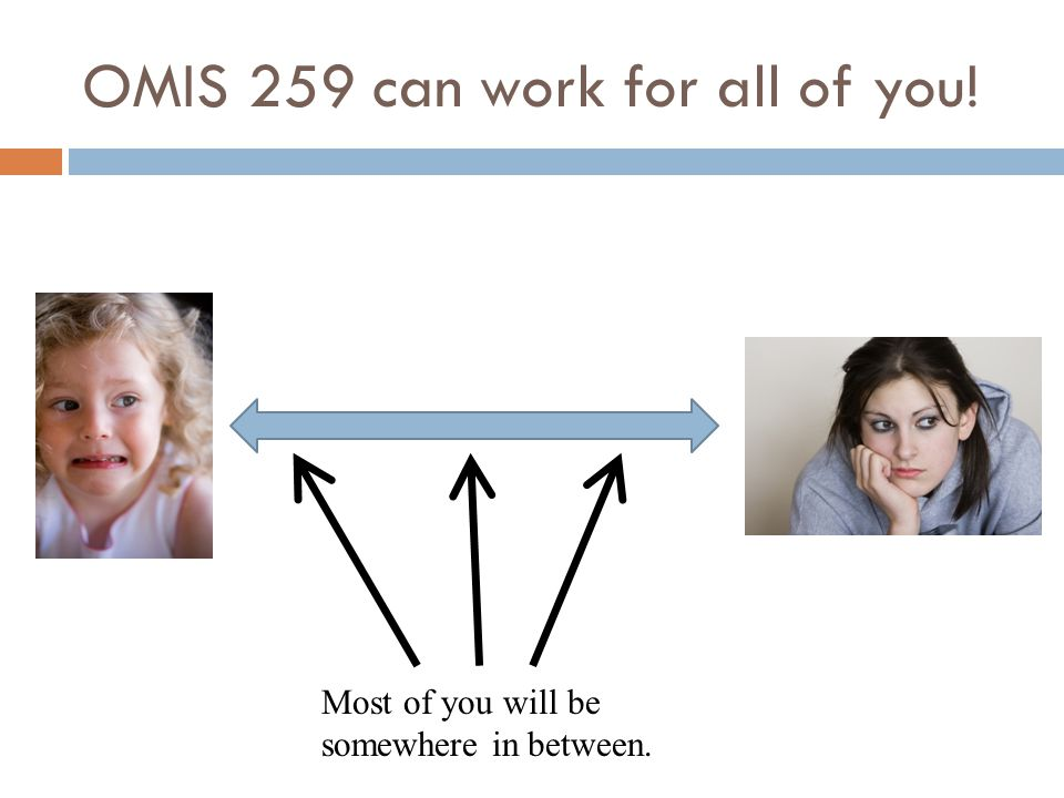 OMIS 259 can work for all of you!