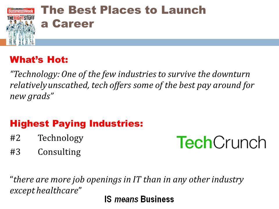 The Best Places to Launch a Career