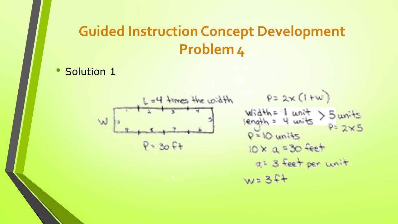 Guided Instruction Concept Development Problem 4