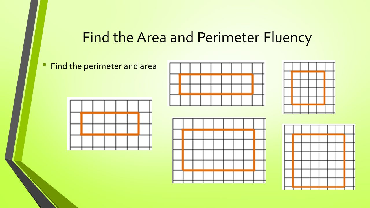 Find the Area and Perimeter Fluency