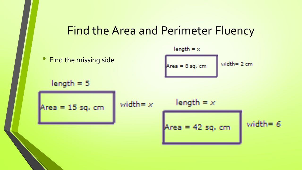 how to find out area by perimeter