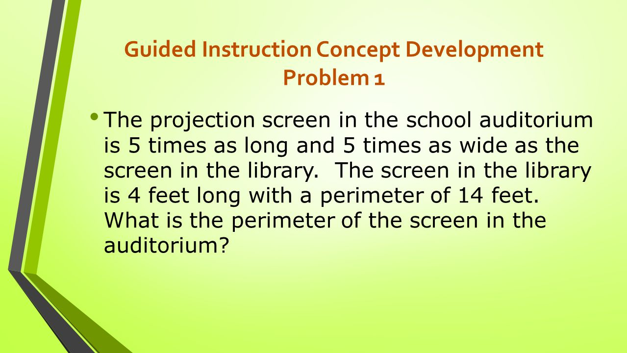 Guided Instruction Concept Development Problem 1