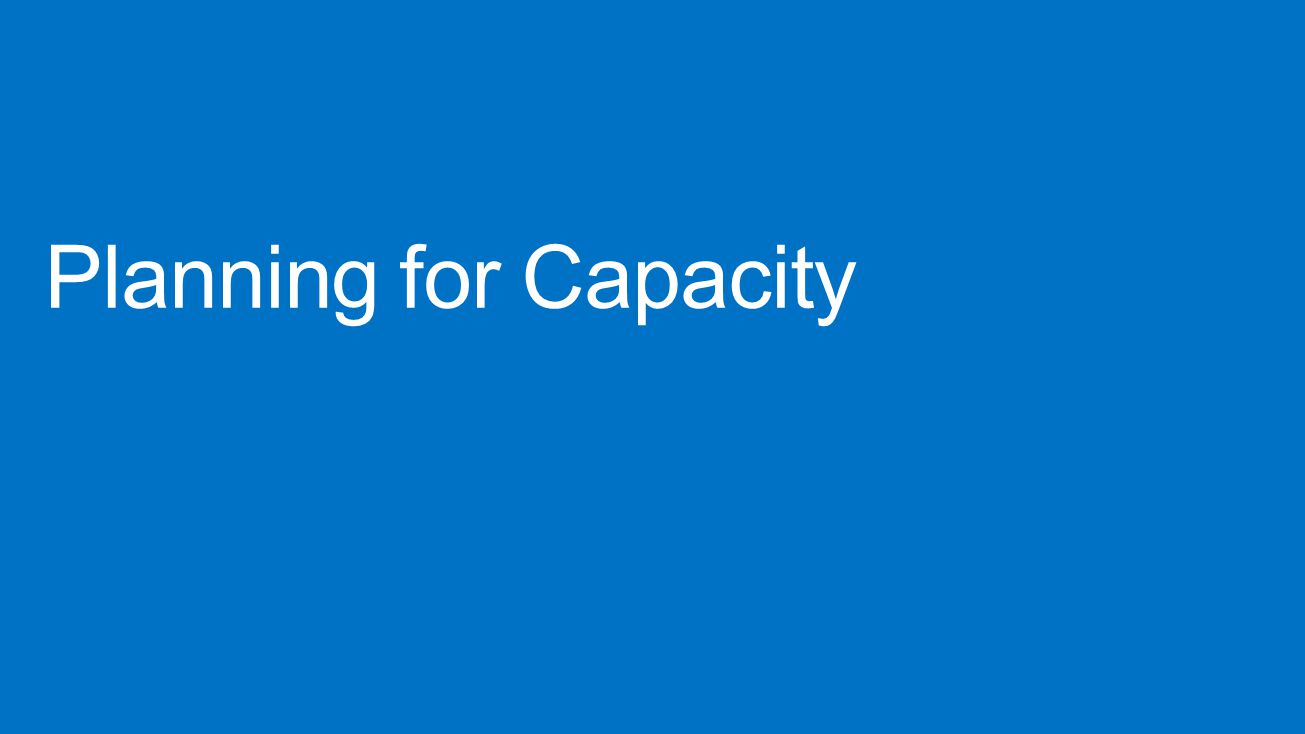 Planning for Capacity Lync Conference 2013 4/15/2017