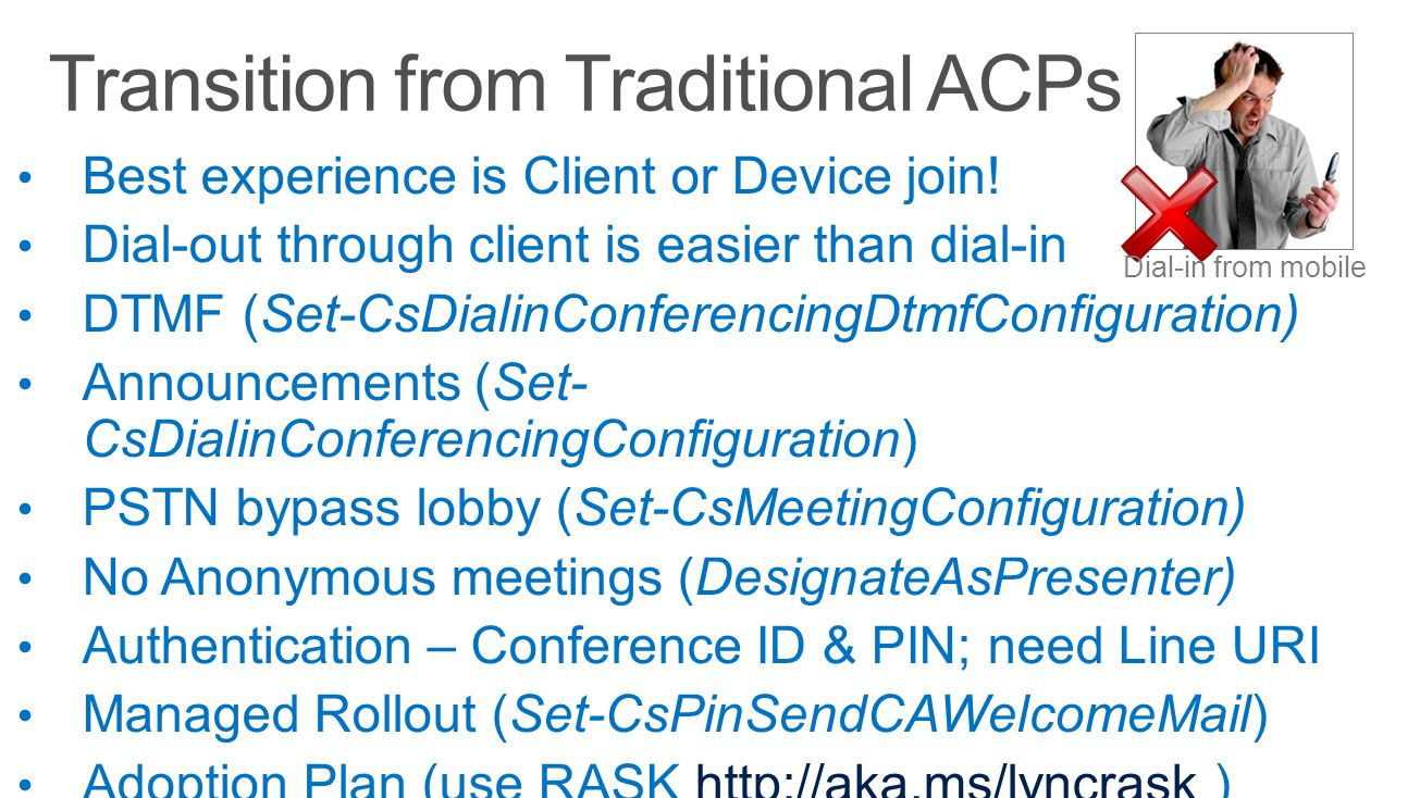 Transition from Traditional ACPs