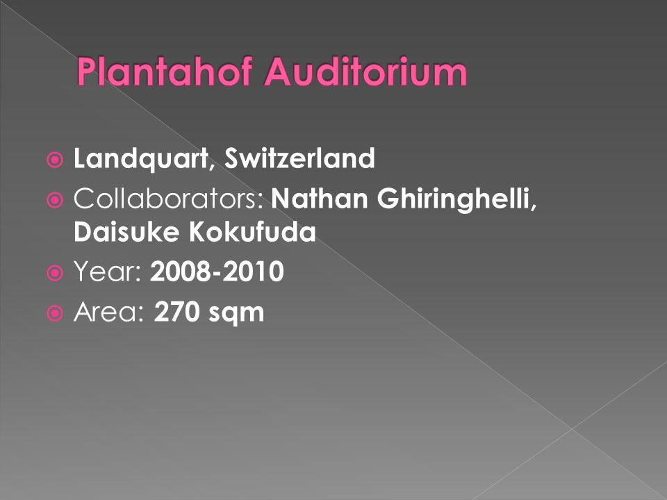 Plantahof Auditorium Landquart, Switzerland