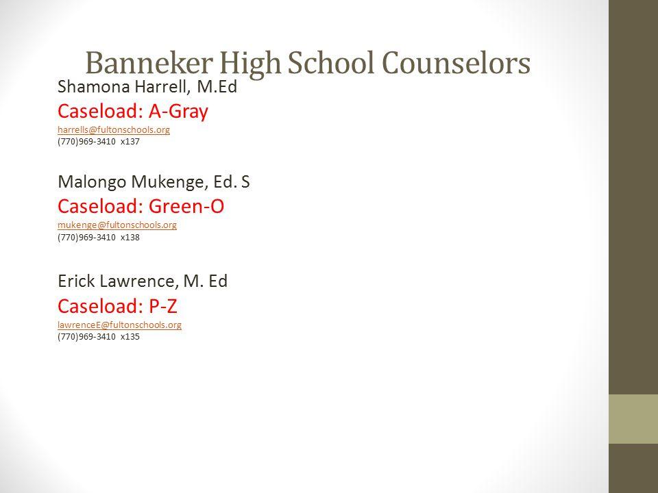 Banneker High School Counselors