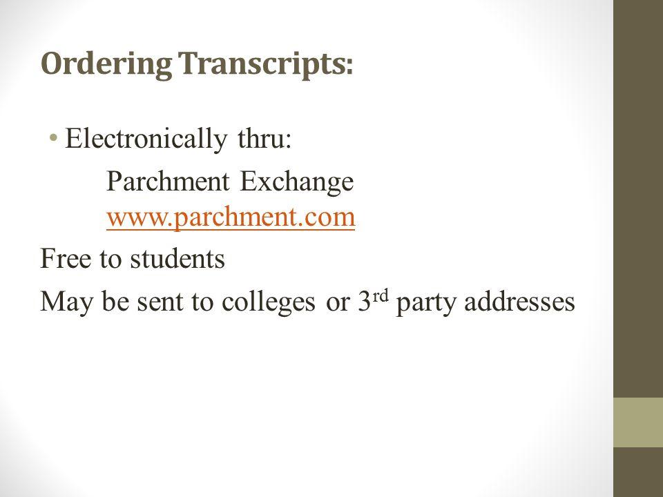 Ordering Transcripts: