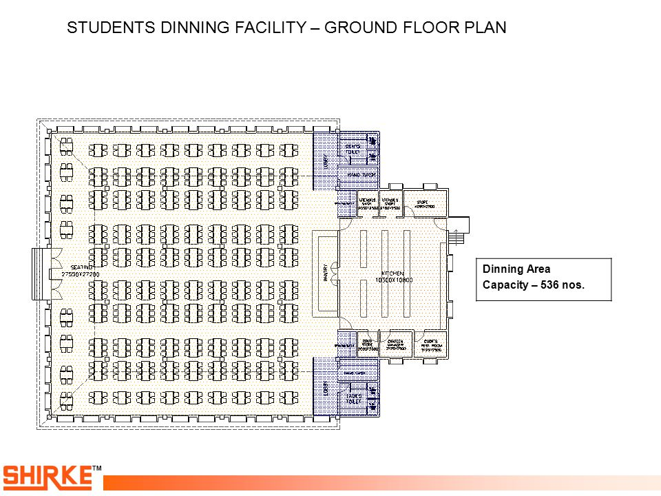 STUDENTS DINNING FACILITY – GROUND FLOOR PLAN