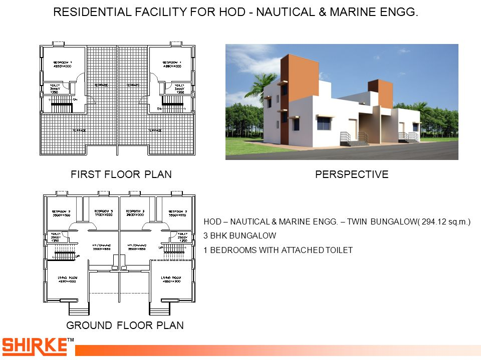 RESIDENTIAL FACILITY FOR HOD - NAUTICAL & MARINE ENGG.