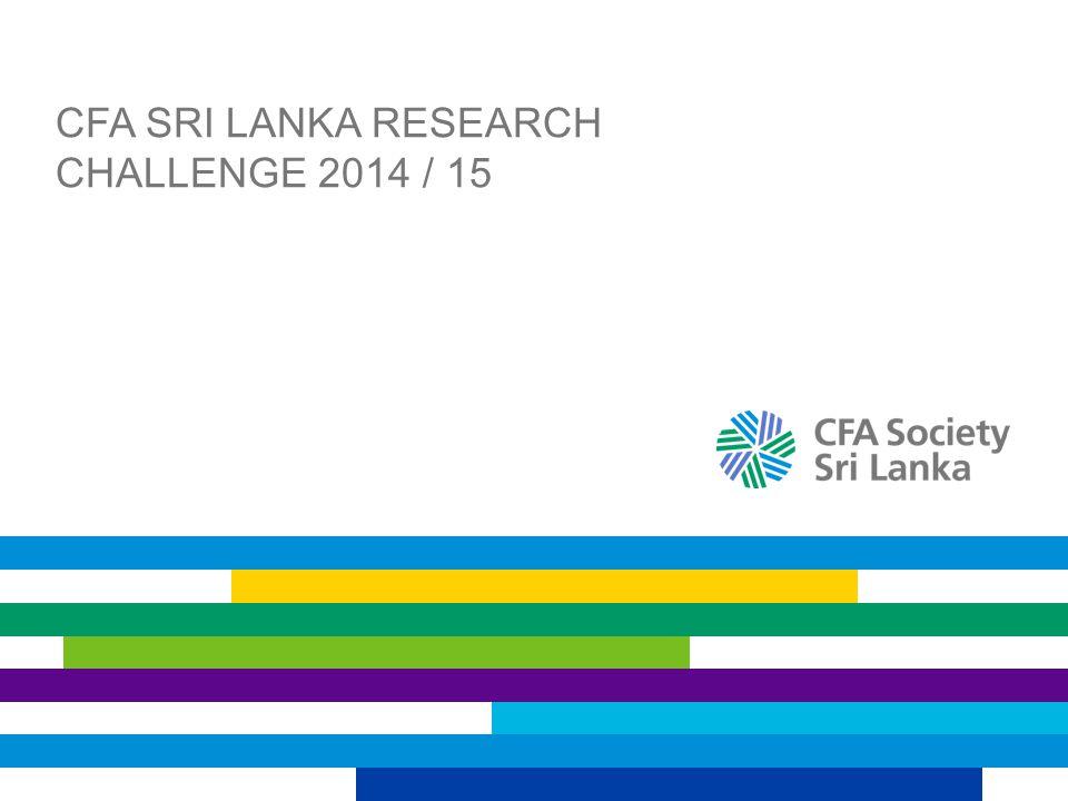 CFA Sri Lanka Research Challenge 2014 / 15