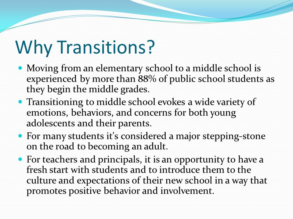 Why Transitions
