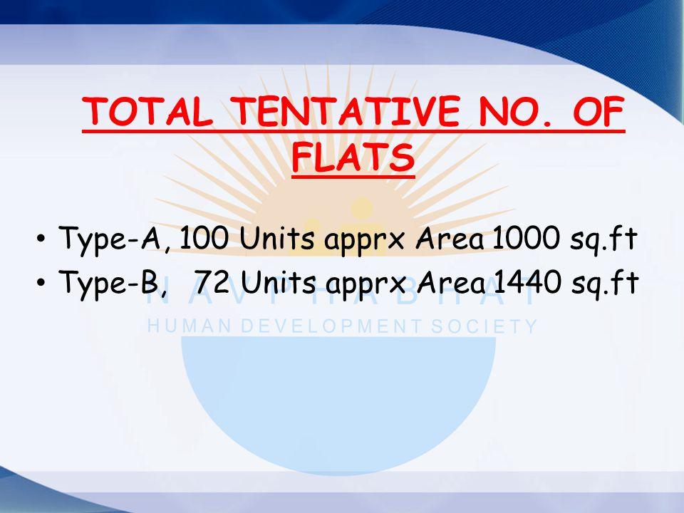 TOTAL TENTATIVE NO. OF FLATS