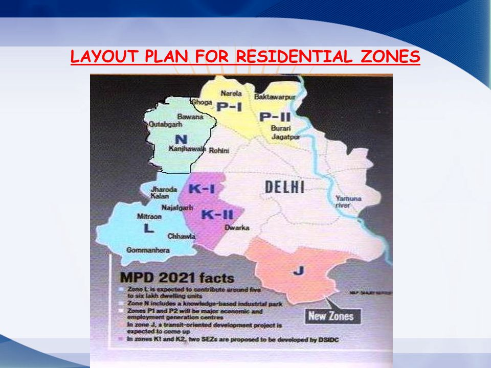 LAYOUT PLAN FOR RESIDENTIAL ZONES