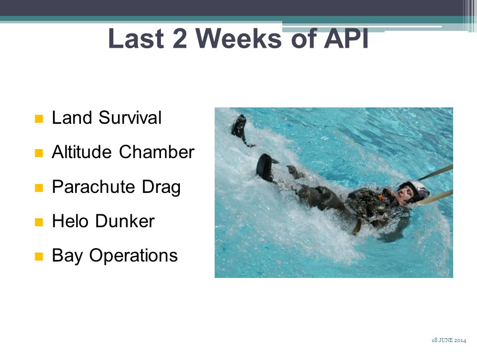 Last 2 Weeks of API Land Survival Altitude Chamber Parachute Drag