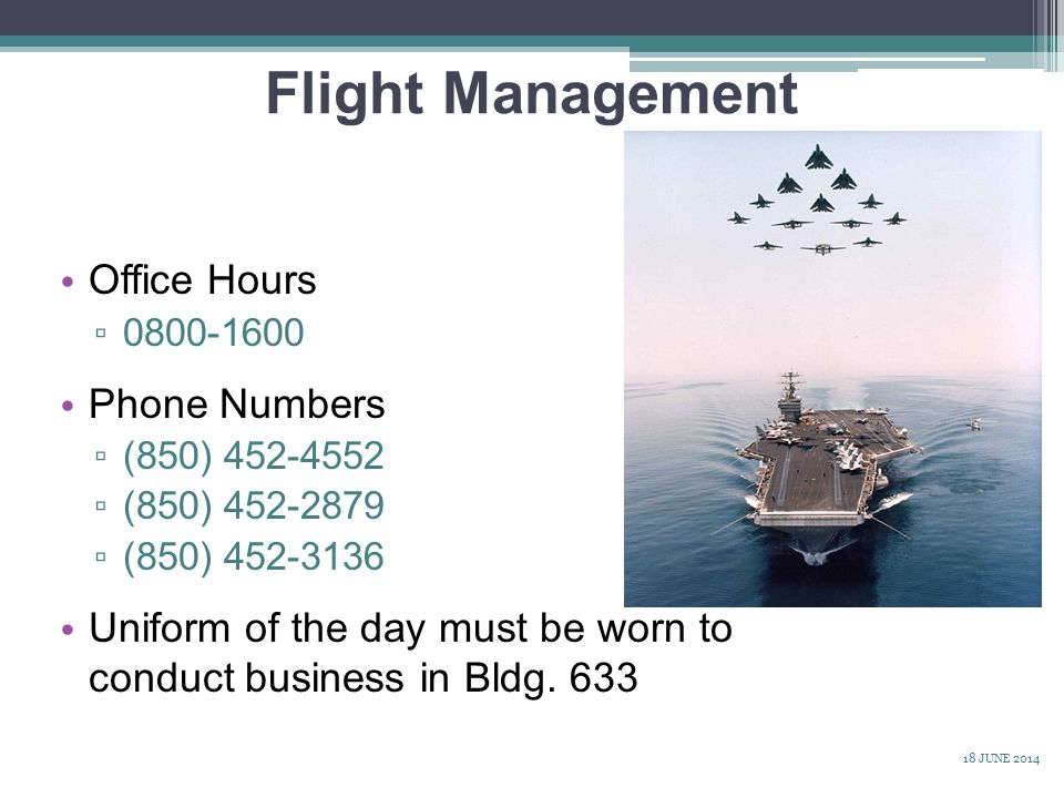 Flight Management Office Hours Phone Numbers