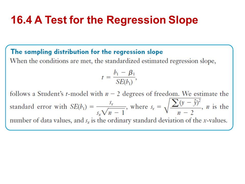 16.4 A Test for the Regression Slope