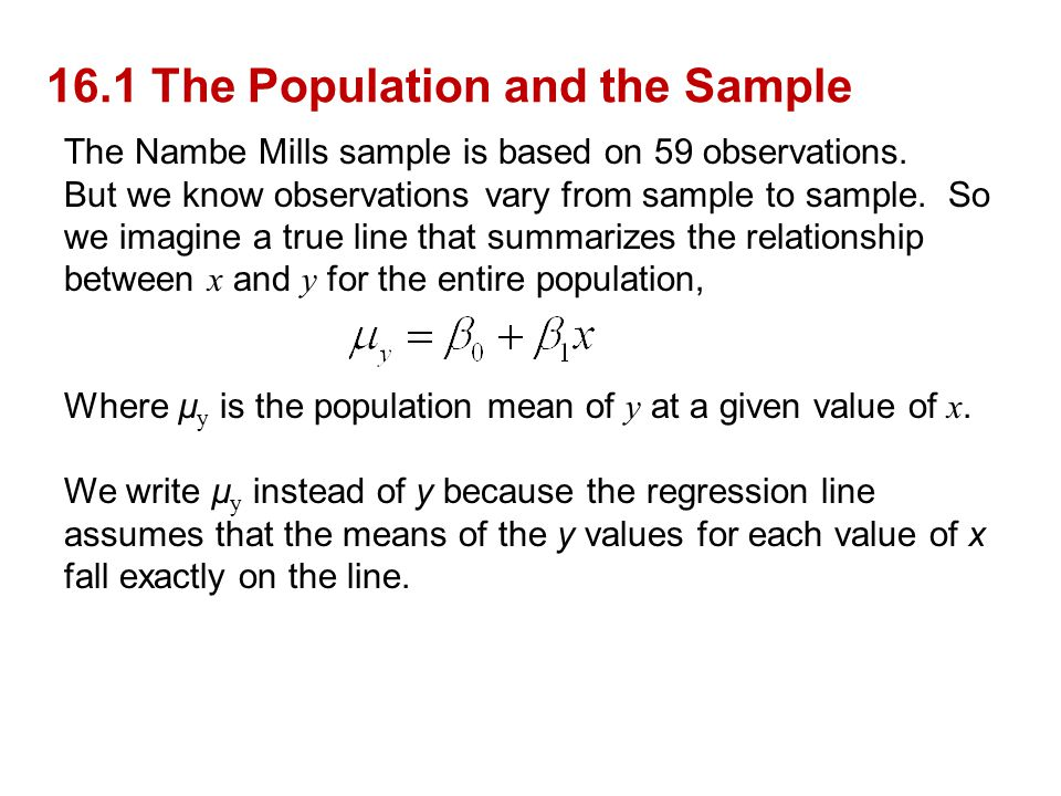 16.1 The Population and the Sample